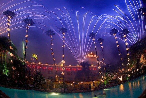 The Mission Inn Hotel & Spa switches on the Festival of Lights at sunset on Friday.