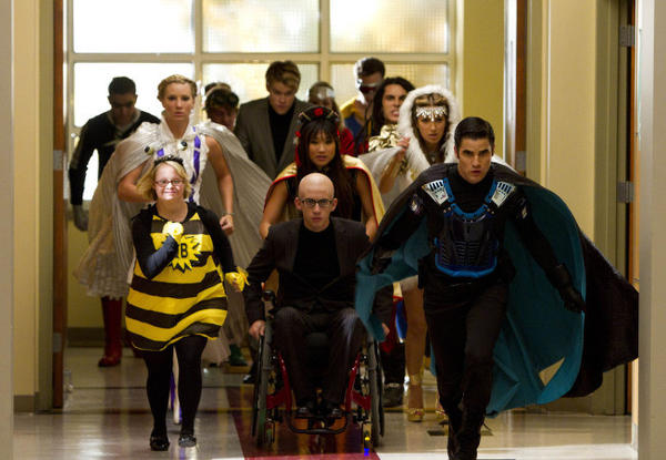 It's a bird, it's a plane. No, it's just the glee club kids. New Directions to the rescue!