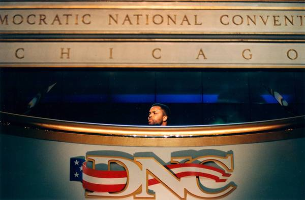 U.S. Rep. Jesse Jackson Jr. speaks at the Democratic National Convention at the United Center in 1996 in Chicago.