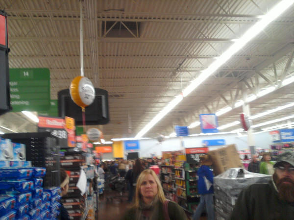 Chaos ensuing as the first round of sales at Walmart starts in full speed. #blackfridayAN