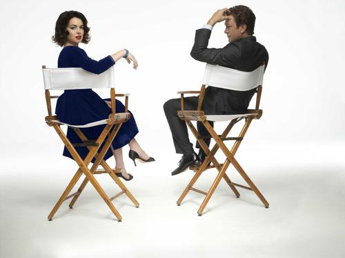 "Lindsay Lohan and Grant Bowler star as Elizabeth Taylor and Richard Burton in Lifetime's ""Liz & Dick."""