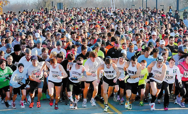 The 12th annual HCC Turkey Trot 5K gets under way Thursday morning.