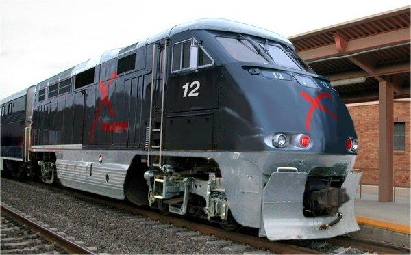 The X Train, which owners hope will start shuttling passengers between Southern California and Las Vegas in 2013.