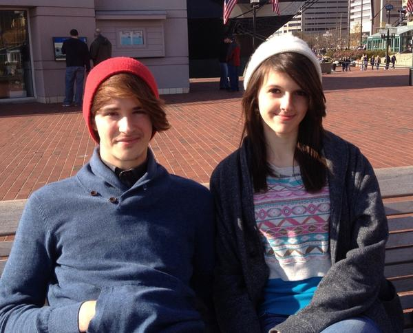 "Sitting on a bench near the USS Constellation enjoying a warm noontime sun, Kelsey Richards and Brandon Lavender are two sides of the same coin.<br> <br> She started shopping Friday at 5:30 a.m. at Target in Middle River and is done.<br> <br> He's done, ""absolutely nothing. December 24, that's when I'll start. It gives me more time to think.""<br> <br> Richards, 16, of Reisterstown, had four people on her list and spent more than $300. ""No, no budget. I just got people what they wanted.""<br> <br> Lavender, 19, of Rosedale, figures ""gift cards, that's the way to go.""<br> <br> <i>--Candy Thomson</i>"