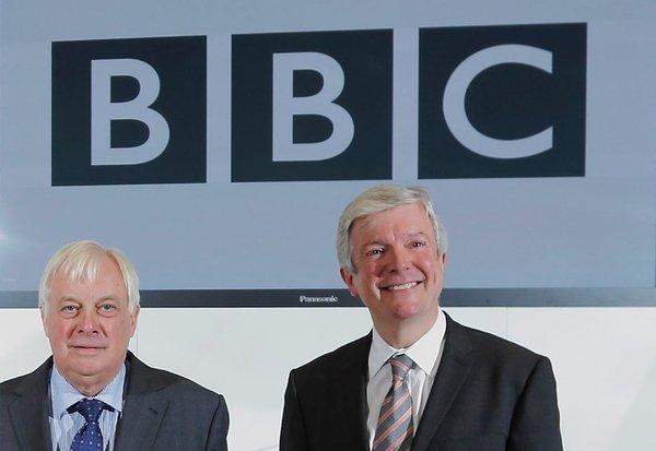 Tony Hall, right, has been named director-general of the BBC. He comes from Britain's Royal Opera House, where he has served as chief executive. Hall appeared with Chris Patten, left, the head of the BBC Trust, at a news conference this week.