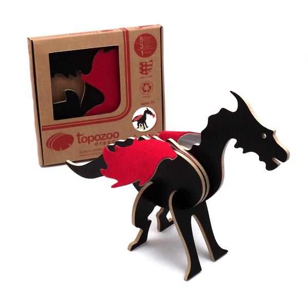 "Topozoo 3-D dragon puzzle made of recycled wood with felt wings, $16.95 at <A href=""http://shop.getty.edu/collections/getty-exclusives/products/978-3791351360 "">the Getty Store</a> or Getty Villa Store in Pacific Palisades, (310) 440-7333."