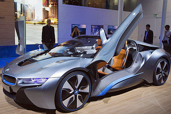 This BMW i8 Concept Roadster, seen at the Paris Motor Show in September, will make its North American premiere at the 2012 L.A. Auto Show.