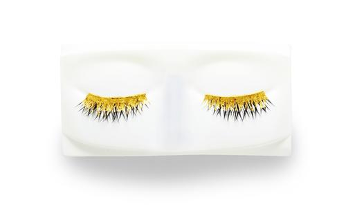 Kre-at beauty hand-foiled 24-karat gold eyelashes, $295 by special order only, exclusively at Barneys New York.