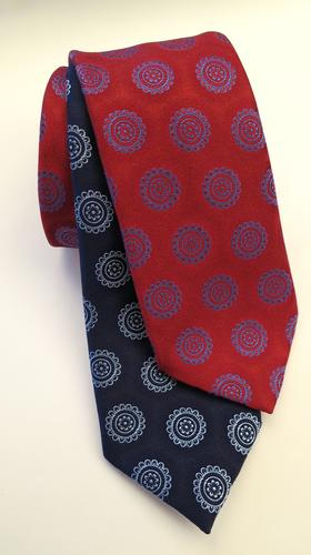 Charvet graphic-patterned silk ties, $215 at Neiman Marcus in Beverly Hills.