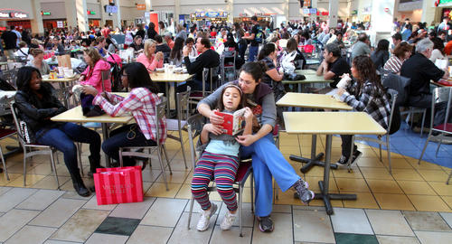 Shoppers pack Florida Mall on Black Friday, November 23, 2012, in Orlando.