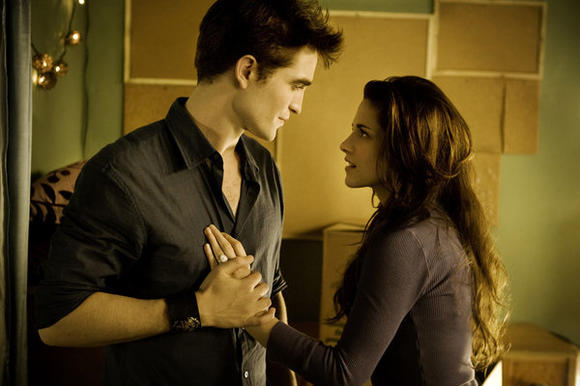 "Robert Pattinson and Kristin Stewart in ""The Twilight Saga: Breaking Dawn Part 2"""