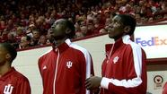 INDIANAPOLIS - Two of Indiana's highly touted freshman will have to wait four more games to see the floor for the Hoosiers.