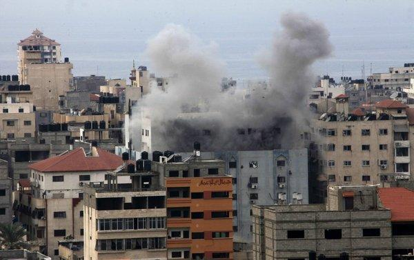 Israeli airstrikes on suspected missile sites in Gaza City were part of Operation Pillar of Defense.