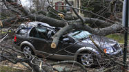 2 injured when tree crushes car in Wilmette