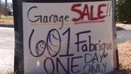 The malls and stores are packed on this Black Friday but in a couple of places in Wichita, you'll find an unusual sight for November - garage sales.