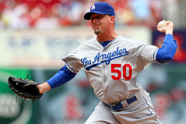 Randy Choate had success against left-handed batters with the Marlins and Dodgers last season.