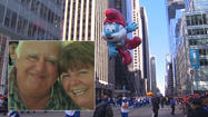 The Macy's Thanksgiving Day parade is a day filled with three million happy people lining the parade route. A day of balloons, clowns and fun, but tragedy struck one clown along the parade route Thursday.