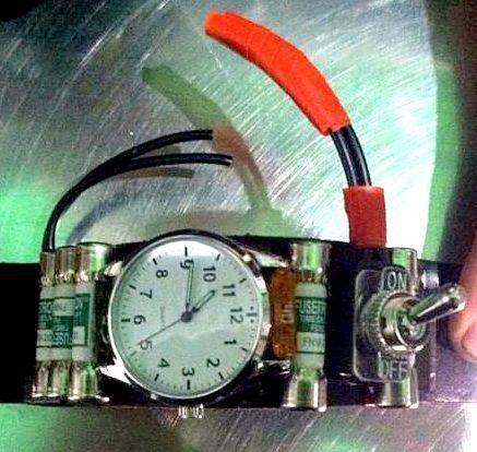 TSA officials thought this watch, worn by a man at Oakland International Airport, might have been an explosive device.