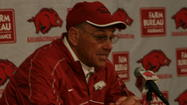 FAYETTEVILLE, Ark. - John L. Smith's temporary tenure as the head coach of the Arkansas Razorbacks is over.