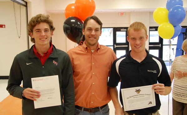 Matt Krecicki and Hunter Chadwick from the Winter Park High lacrosse team signed with Rennselear and the Army, respectively.