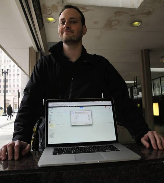 Ben Rady keeps his email inbox clean on his computer. He says staying on top of incoming emails saved his career.
