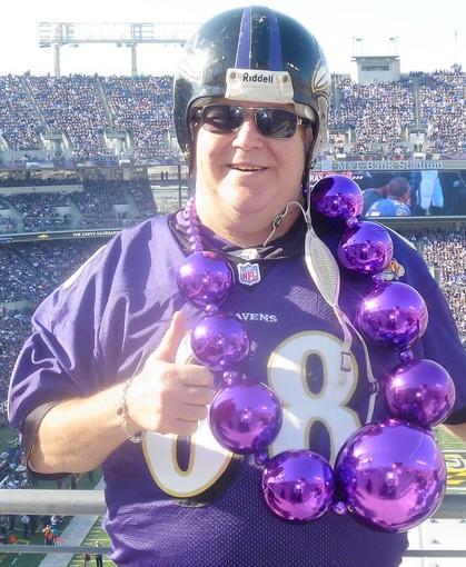 Ravens fan Bobby Nyk.