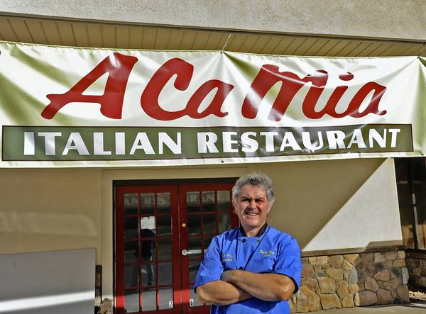 Paolo Notto stands out front of his new italian restaurant A Ca Mia at 4330 Lehigh Ave. in Walnutport.