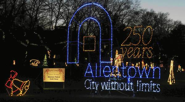 Allentown's 250th anniversary display is in Lights in the Parkway.
