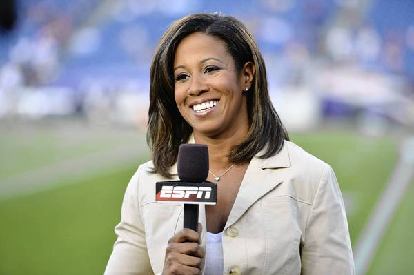 Foxborough, MA - August 20, 2012 - Gillette Stadium: Lisa Salters during a preseason game.