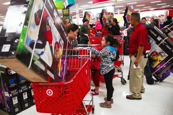 Black Friday shoppers flooded through the doors at a Target in Burbank looking for the best deals.