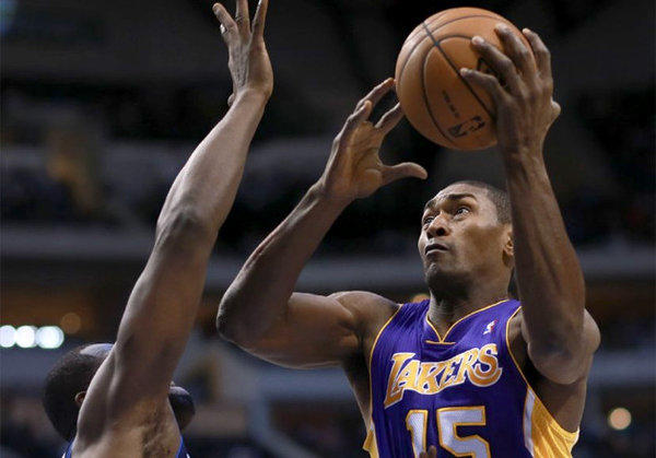 Metta World Peace scored 19 points on 10 shot attempts Saturday against the Mavericks.