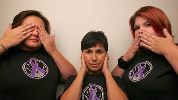 FROM LEFT: Domestic violence survivor Luz Eva Hull, Norma Vandergriff and Natasha Coonrod.