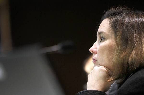 Hampton City Manager Mary Bunting listens to citizen comments during a recent city council meeting.