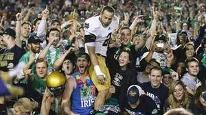 Hard-fought victory assures Irish spot in national title game