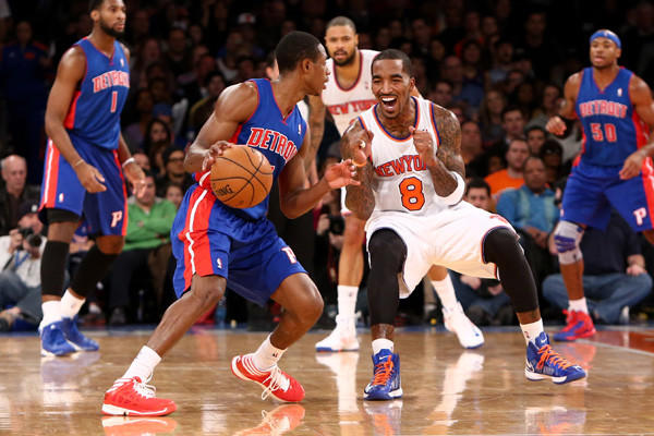 Detroit Pistons vs. New York Knicks. Knicks won 121-100.