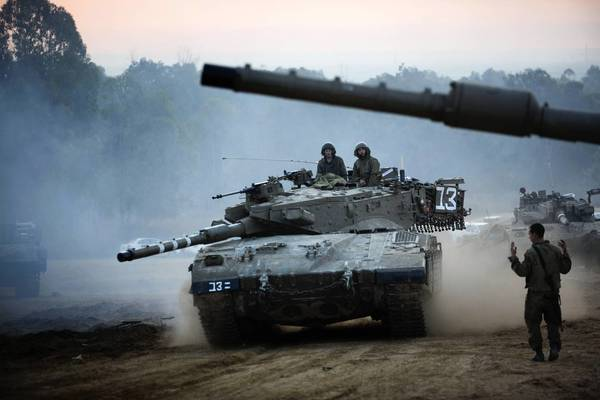 An Israeli tank maneuvers last week near the Israel-Gaza border. Military operations will not solve Israel's Hamas problem; the Jewish state and its allies must instead engage in the war of ideas and bring pressure to bear on Hamas for its never-ending targeting of civilians.