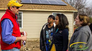 Thanks to the generosity of an Oregon manufacturing firm and a Berkeley Springs, W.Va., company, energy from the sun will help to heat and light a new home being built for a local family by Habitat for Humanity.