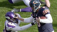 During the fourth quarter of Sunday's 28-10 victory over the Vikings at Soldier Field, Jay Cutler noticed left tackle J'Marcus Webb's loose shoelace.