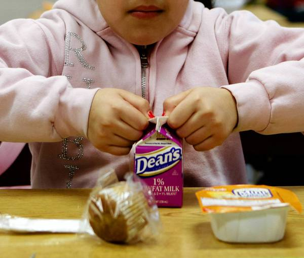 Schools participating in the National School Lunch Program must serve milk, and Chicago Public Schools officials say the only way a student can receive a substitute drink is for a doctor to say he or she has a milk allergy.