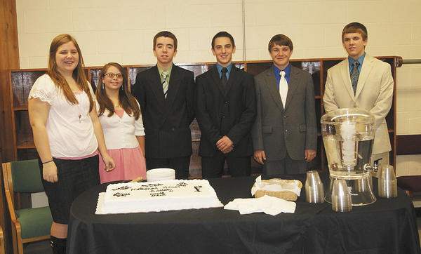 From left, Hannah Gaylor, Brittany Horchner, Benjamin Fultz, Tyler Reese, Ian Rohrbaugh and David Shank.