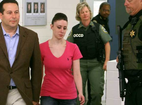 Casey Anthony leaves jail early Sunday. (Red Huber, Orlando Sentinel)