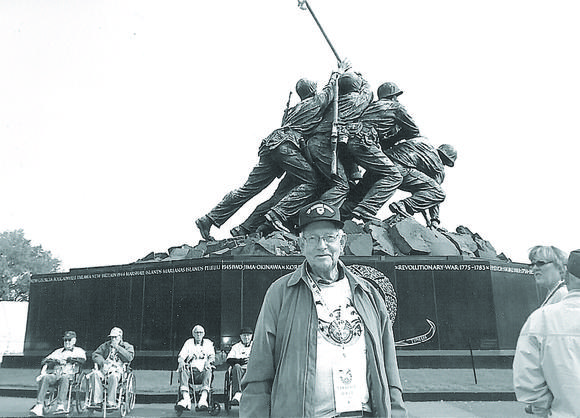 Decorated Danville Marine takes trip to see monuments