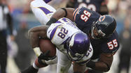 CHICAGO (AP) — The Chicago Bears got Jay Cutler back from a concussion, only to lose three more stars to injuries.