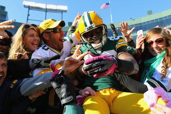 "Donald Driver, celebrating a touchdown against the Jacksonville Jaguars with a ""Lambeau Leap,"" is the Packers all-time leading receiver and a ""Dancing With the Stars"" champion."