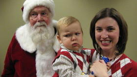 Pictures: Scared of Santa
