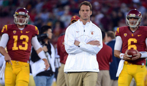 USC Coach Lane Kiffin may have the support of Athletic Director Pat Haden, but he's still on the hot seat in the eyes of many observers.