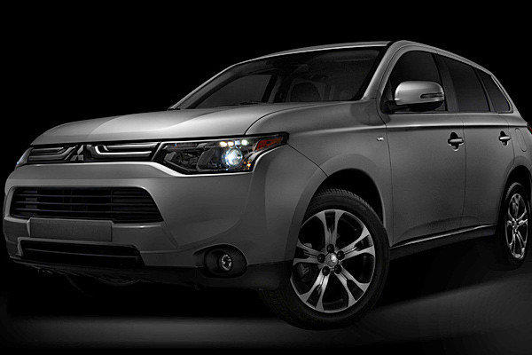 Mitsubishi released this photo of the 2014 Outlander, which will make its North American debut at the 2012 L.A. Auto Show.