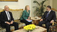 In the cease-fire struck between Israel and Hamas in the Gaza Strip, Secretary of State Hillary Clinton got second billing to Egyptian President Mohamed Morsi's role as the prime go-between, and rightly so. But her highly visible hand-holding on both sides did nothing to quiet chatter about her political strength at home as a potential presidential candidate in 2016.