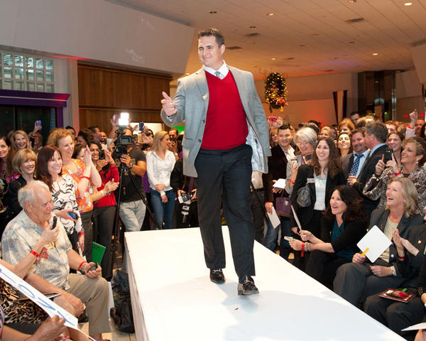 "From last year's ""Men of Style"" fashion show - honoree Philip DeBiasi walking the runway in fashion from Dillard's and Macy's. Tickets for the event this year are $50, or $75 for a VIP experience including a pre-wine reception at Truluck's and preferred seating for the runway show. They can be purchased at The Galleria's Guest Services or through the participating charities. For more information, please call The Galleria at Fort Lauderdale at (954) 564-1036."