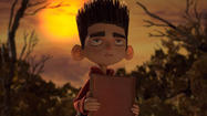 "The young title character in this stop-motion animation fantasy (voiced by Kodi Smit-McPhee) shares a trait with Haley Joel Osment's alter ego in ""The Sixth Sense,"" summed up by the sentence, ""I see dead people."""
